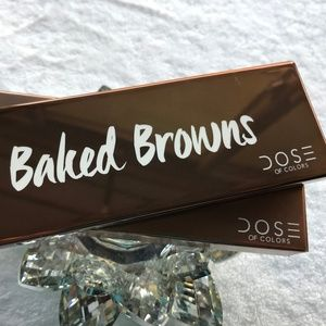 Dose of Colors BAKED BROWNS Eyeshadow Palette.